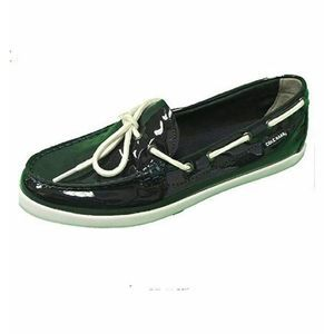 Cole Haan 10 Boat Shoes Nantucket Blue Patent